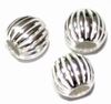 Silver bead to place between glass model Nipis  5mm (3psc)