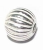 Silver bead to place between glass Jeruk  8mm