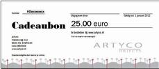 3. Cadeaubon waarde 25 euro