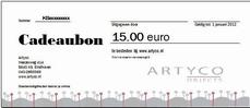 2. Cadeaubon waarde 15 euro