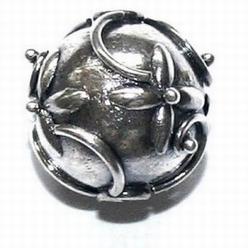 Zilveren tussenkraal- model Bunga  12,5mm  per stuk