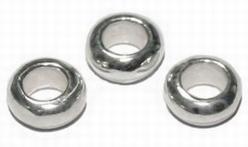 Zilveren tussenkraal model Sawo  6,5 x 3 mm  per 3 stuks