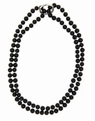 Big Charms- parel ketting met verkorter, 95 cm - zwart