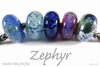 Double helix frit  Zephyr