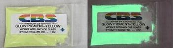 CBS Yellow glow pigment  1 Oz    30 gram