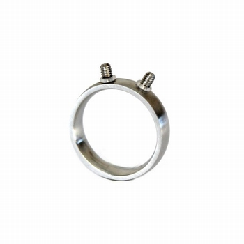 Changeable stainless steel ring brushed finished, 2x treat