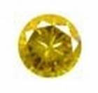 Cubic Golden Yellow 2.00 mm rond