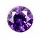 Cubic Violet 2.00 mm round