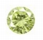Cubic Peridot 2,00 mm rond