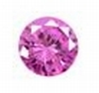 Cubic Pink Rose 2.00 mm rond