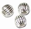 Zilveren tussenkraal- model Nipis  5mm  per 3 stuks