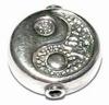 Zilveren tussenkraal- model  Yin Yang  17,5 x 6 mm per stuk