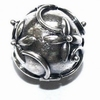 Silver bead to place between glass model Bunga  12,5mm