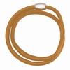 Notting Hill Charms - zacht leren armband, 40 cm - bruin
