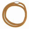 Notting Hill Charms - soft leather bracelet, 40 cm - brown