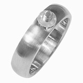 Changeable stainless steel ring brushed finished 16,5