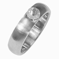 Changeable stainless steel ring brushed finished 19,5